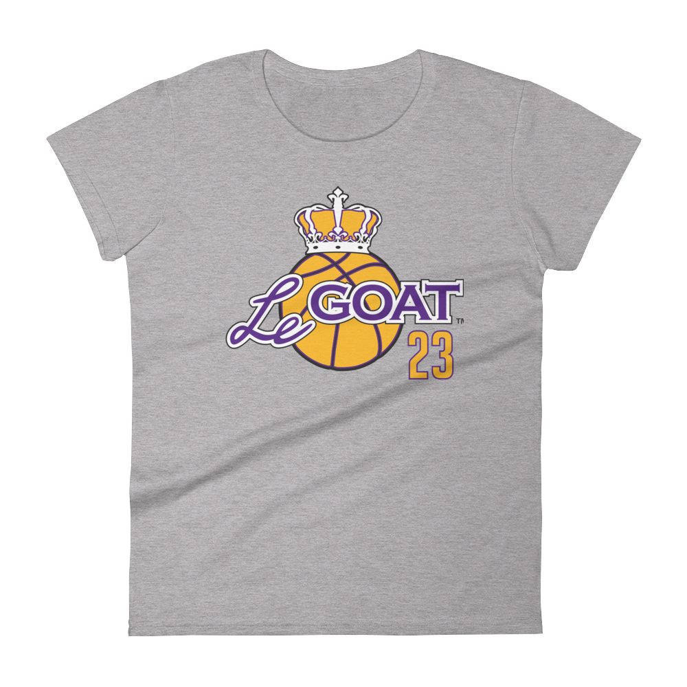 Women's LeGOAT Grey Logo Shirt - Purple/Gold
