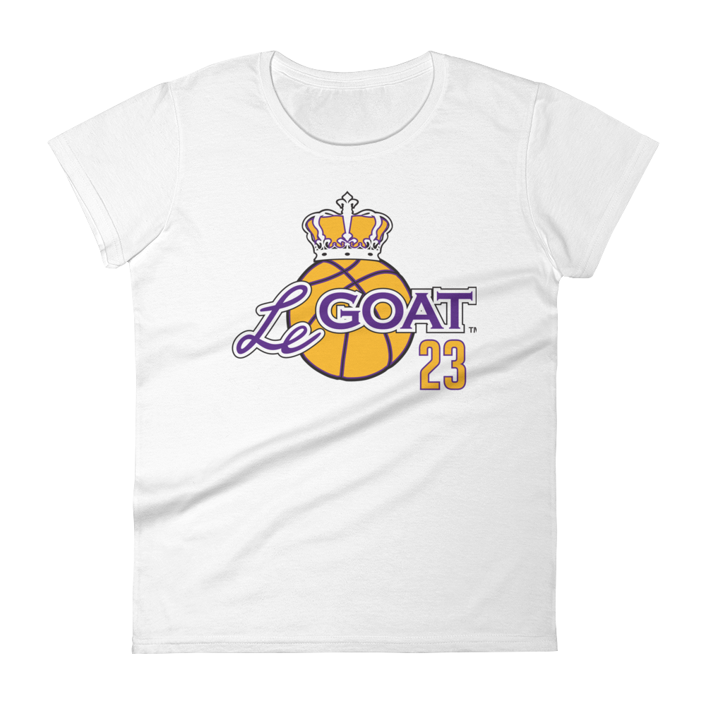 Women's LeGOAT White Logo Shirt - Gold/Purple