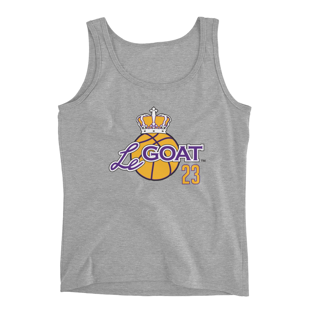 Women's LeGOAT Grey Logo Tank - Purple/Yellow