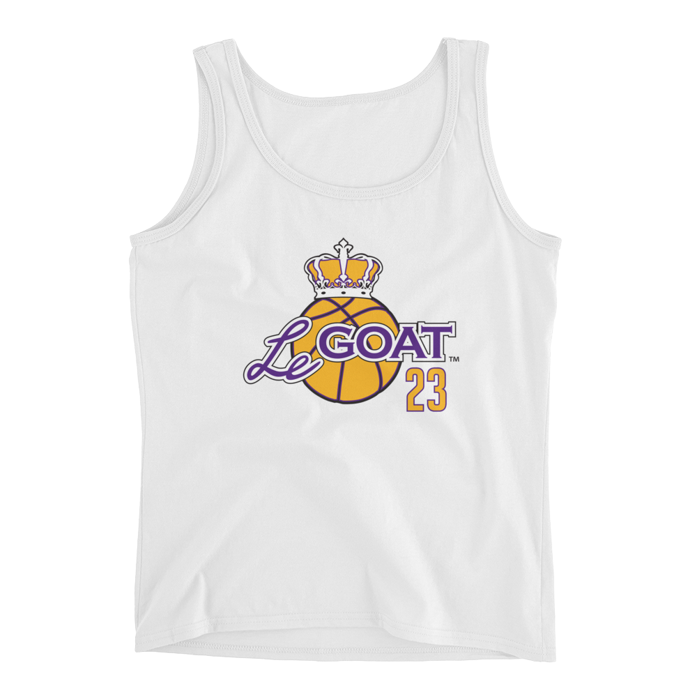 Women's LeGOAT White Logo Tank - Purple/Yellow