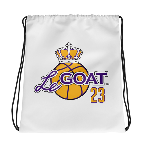 LeGOAT Drawstring Gym Bag - Purple/Yellow