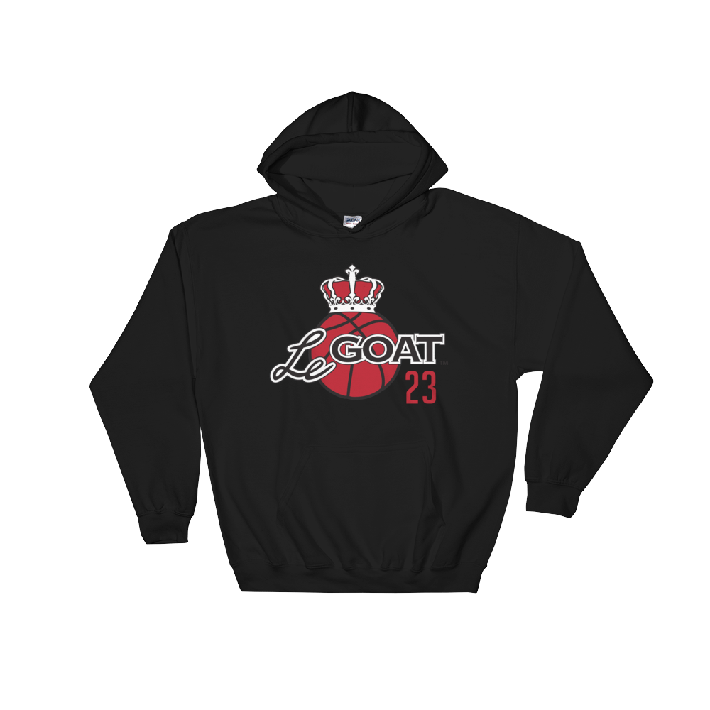 Men's LeGOAT Black Hoodie- Black/Red