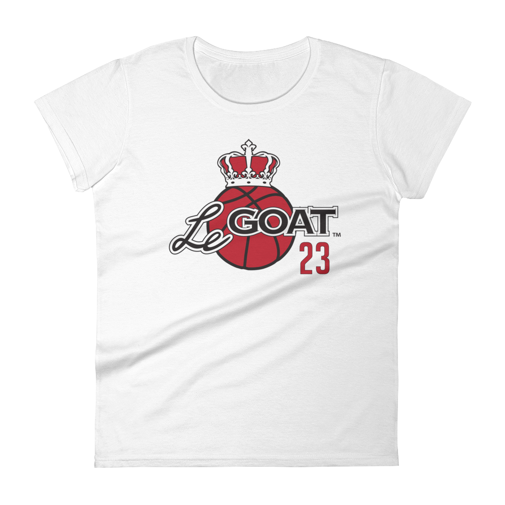 Women's LeGOAT White Logo Shirt - Black/Red