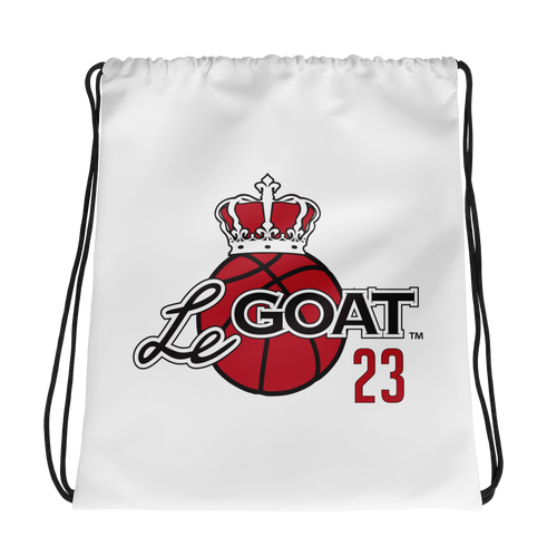 LeGOAT Drawstring Gym Bag - Black/Red