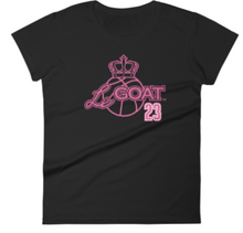 Women's LeGOAT Logo Shirt - Black/Pink
