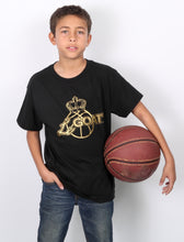 Kid's LeGOAT T-Shirt Black and Gold