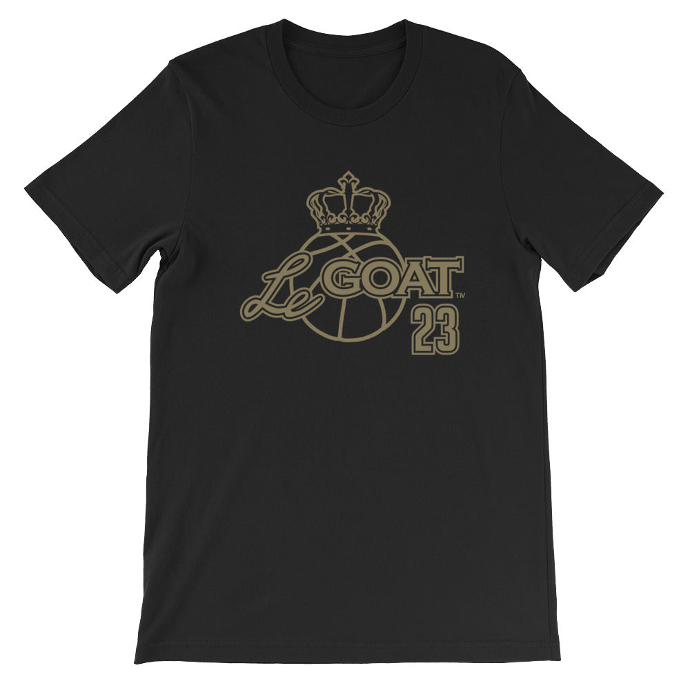 Men's LeGOAT Black Logo Shirt- Black/Gold
