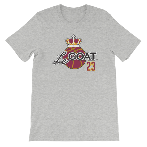 Men's LeGOAT Grey T-Shirt -  Gold/Burgundy