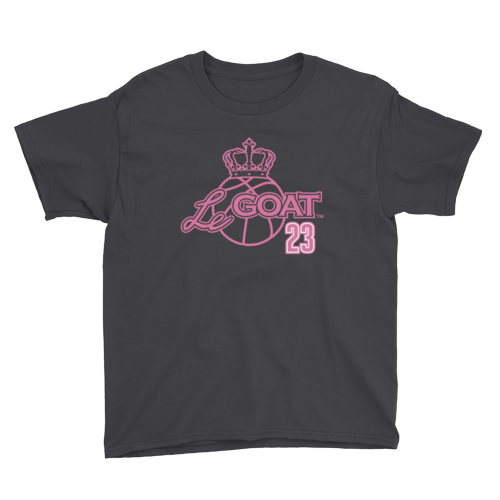Kid's LeGOAT Black Logo Shirt - Black/Pink