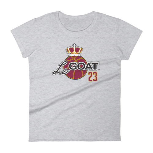Women's LeGOAT Grey Logo Shirt - Gold/Burgundy