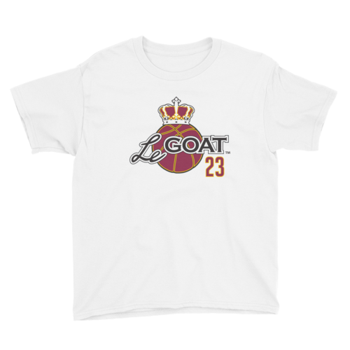 Kid's LeGOAT White Logo Shirt - Gold/Burgundy