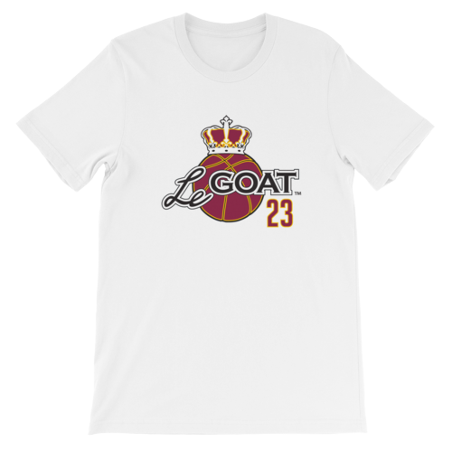 Men's LeGOAT White Logo Shirt - Gold/Burgundy