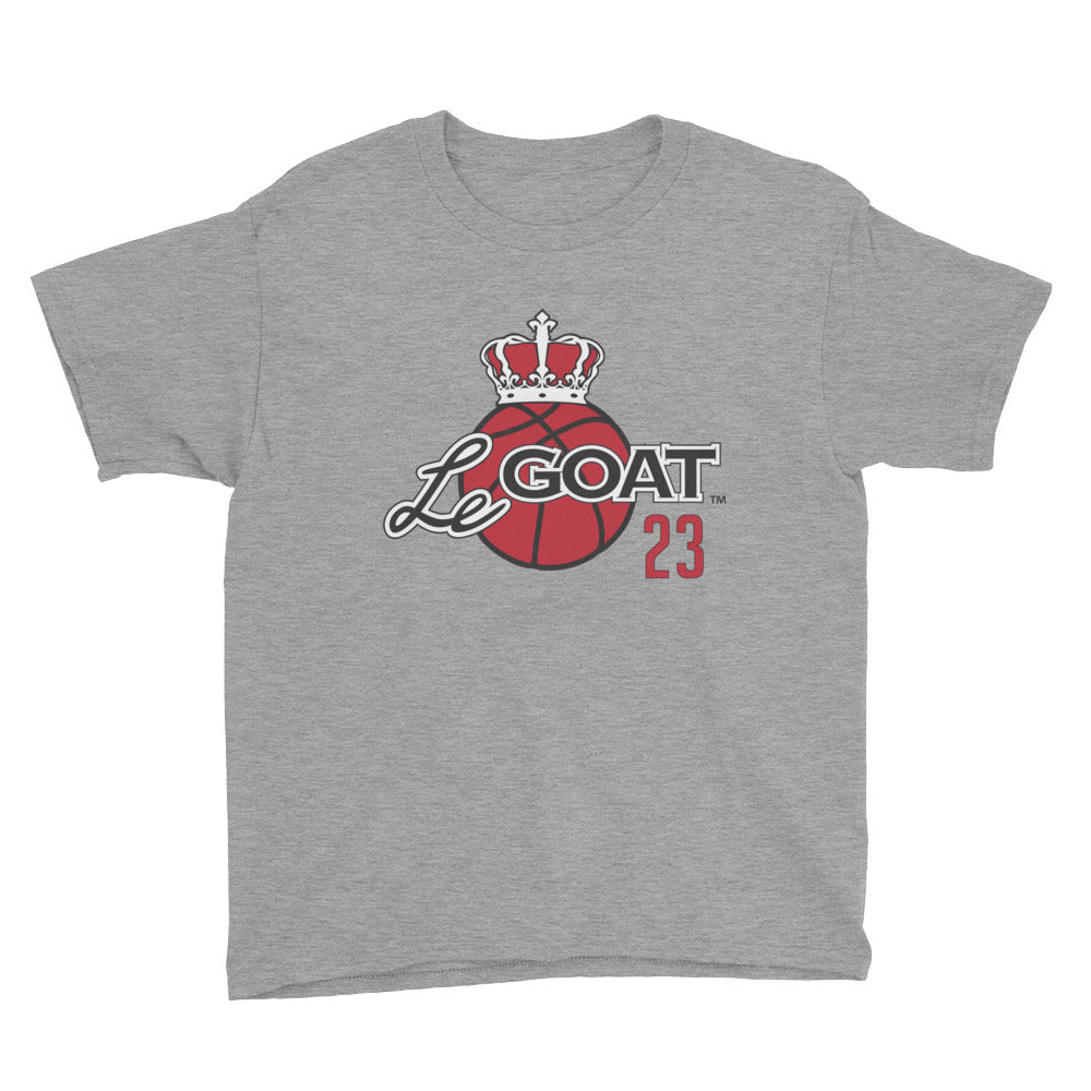 Kid's LeGOAT Grey T-Shirt - Black/Red