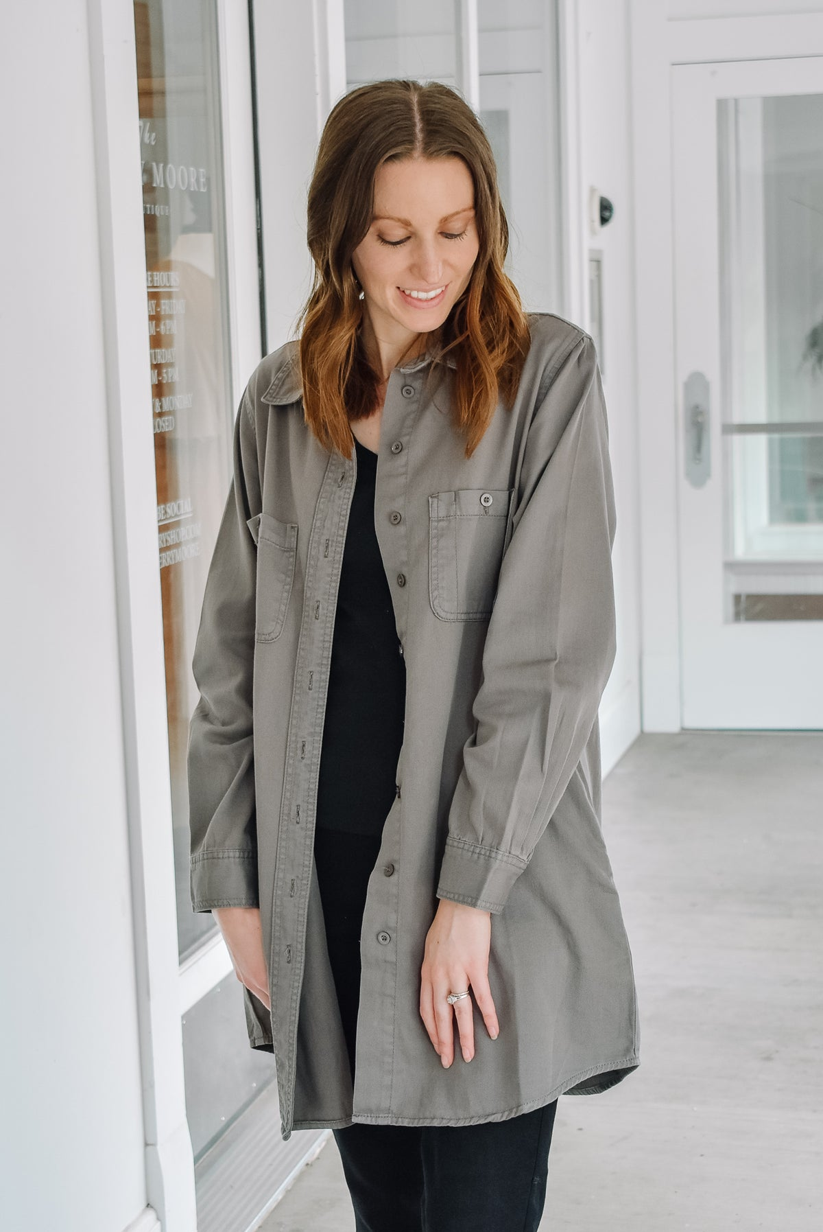 SUMMER NIGHTS JACKET-CHARCOAL