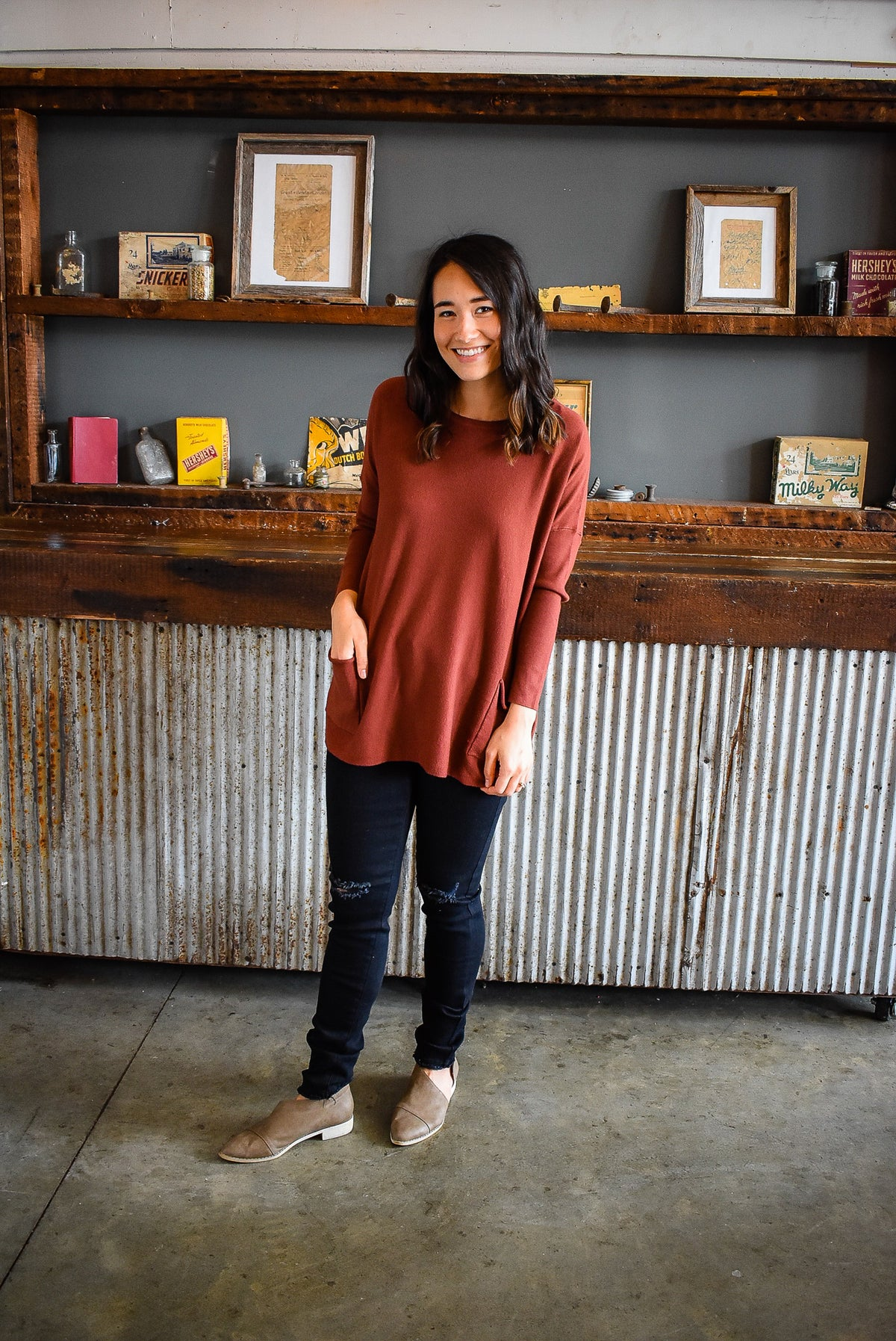 TUNIC SWEATER-COPPER