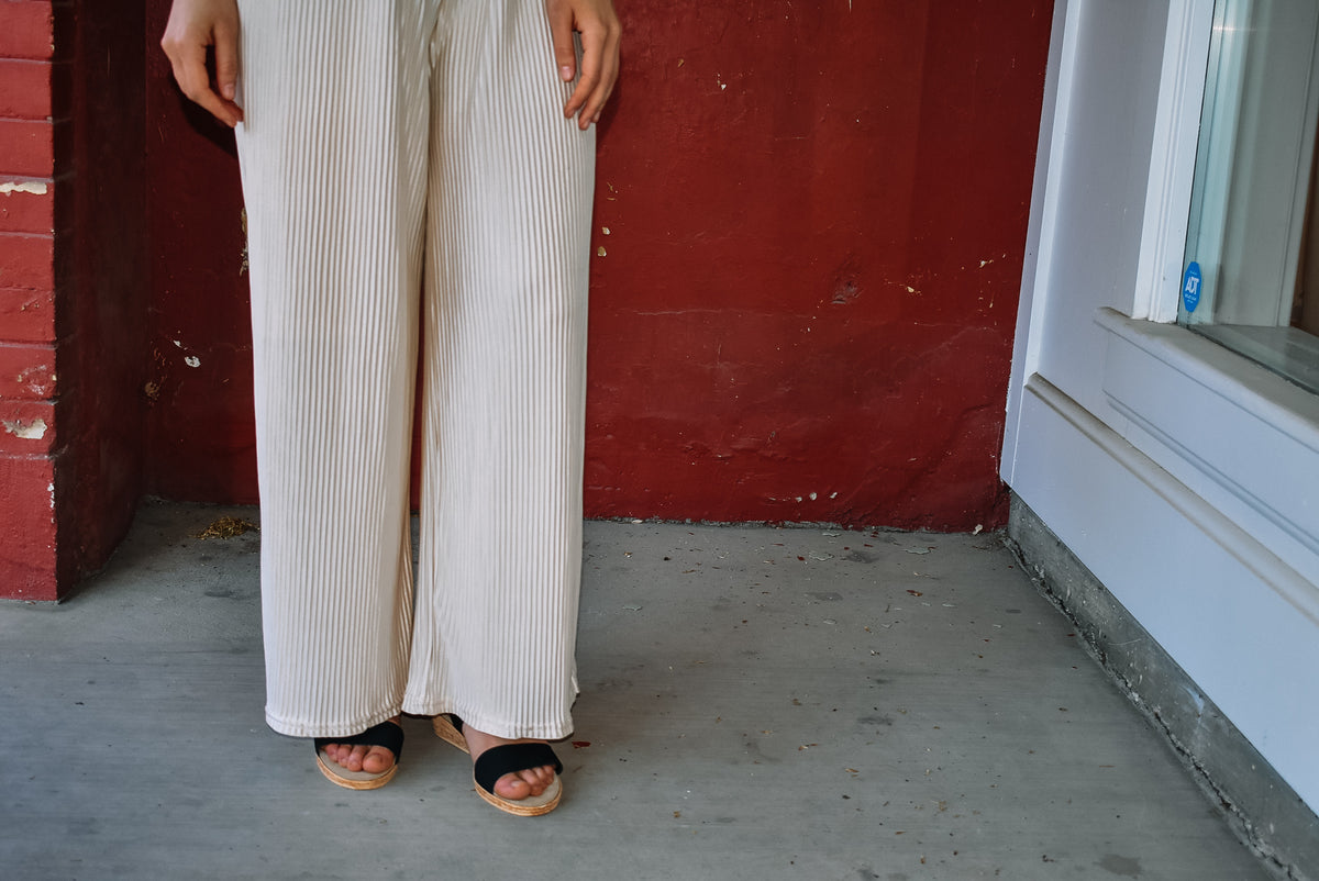 PLEATED DRESS PANT-CREAM