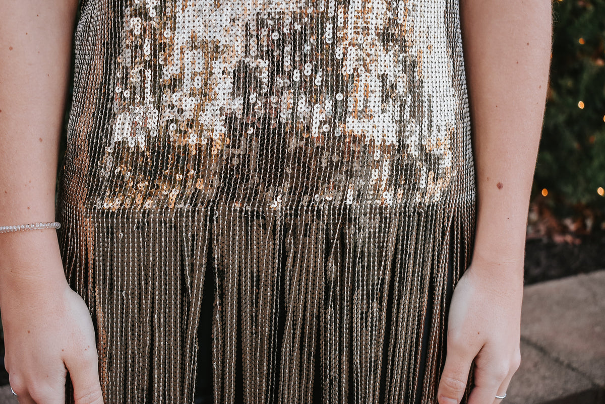SEQUIN TUNIC-GOLD