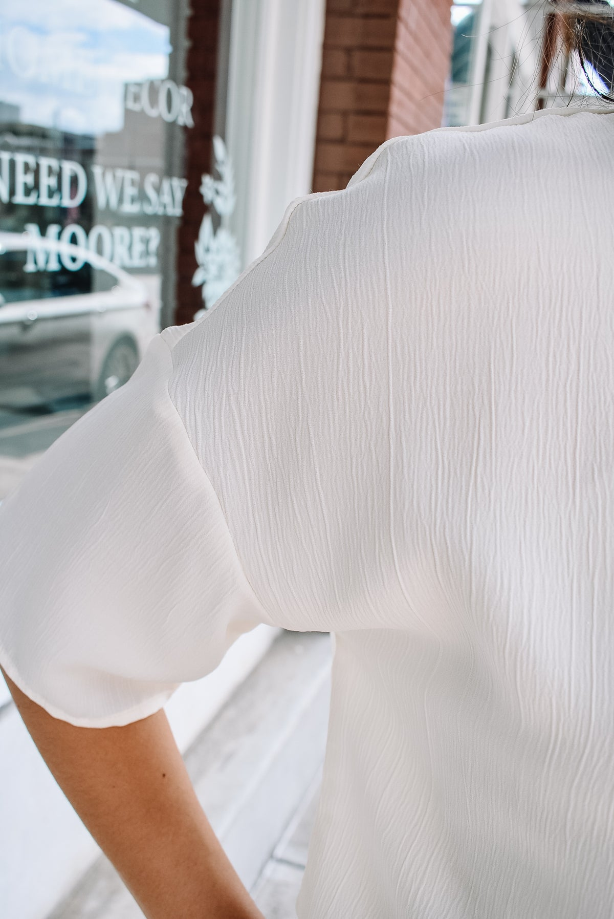 TEXTURED BLOUSE-IVORY