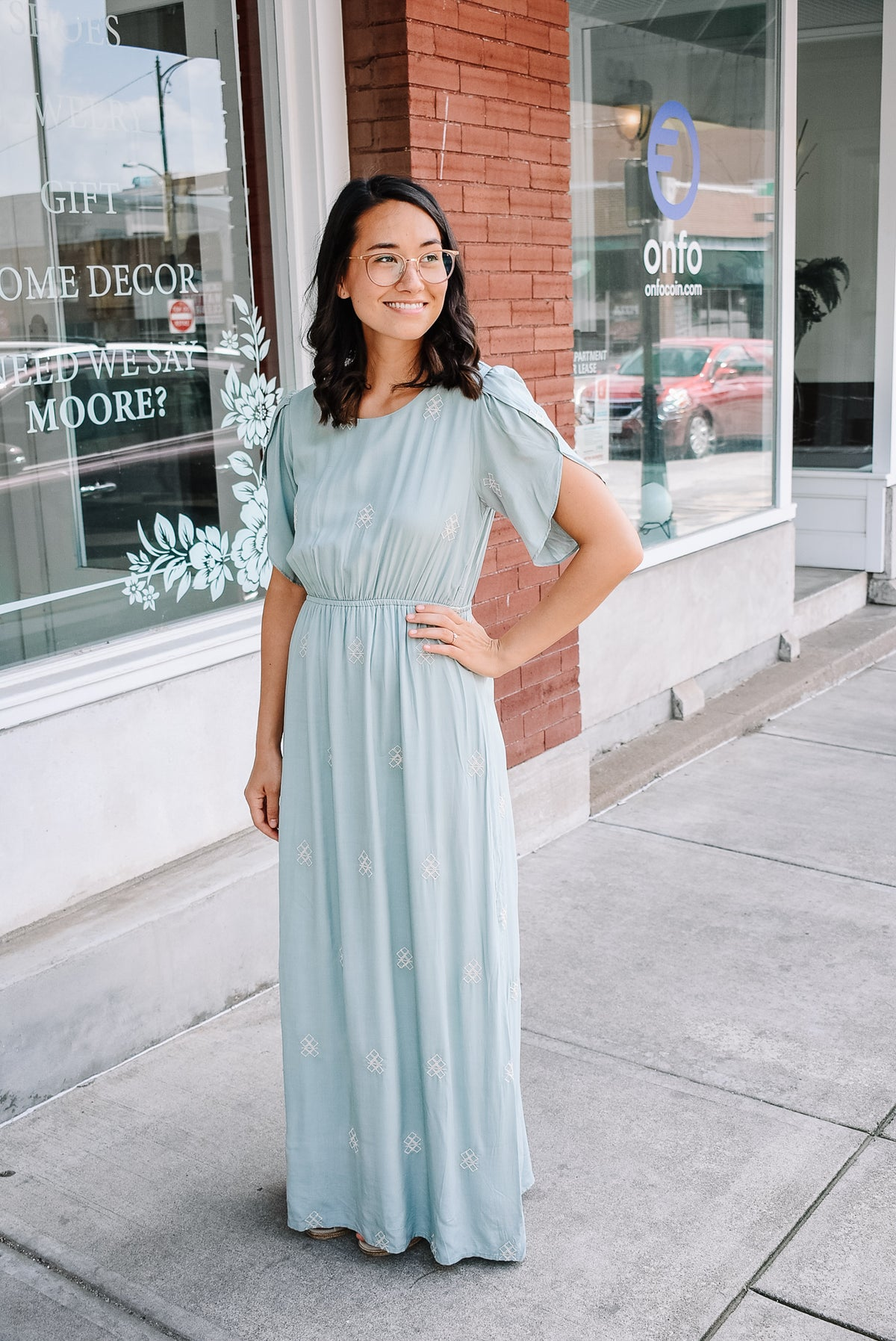 EMBROIDERED MAXI-SAGE