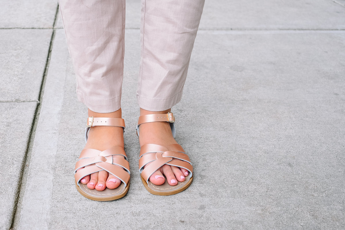 SALT WATER SANDALS-ROSE GOLD