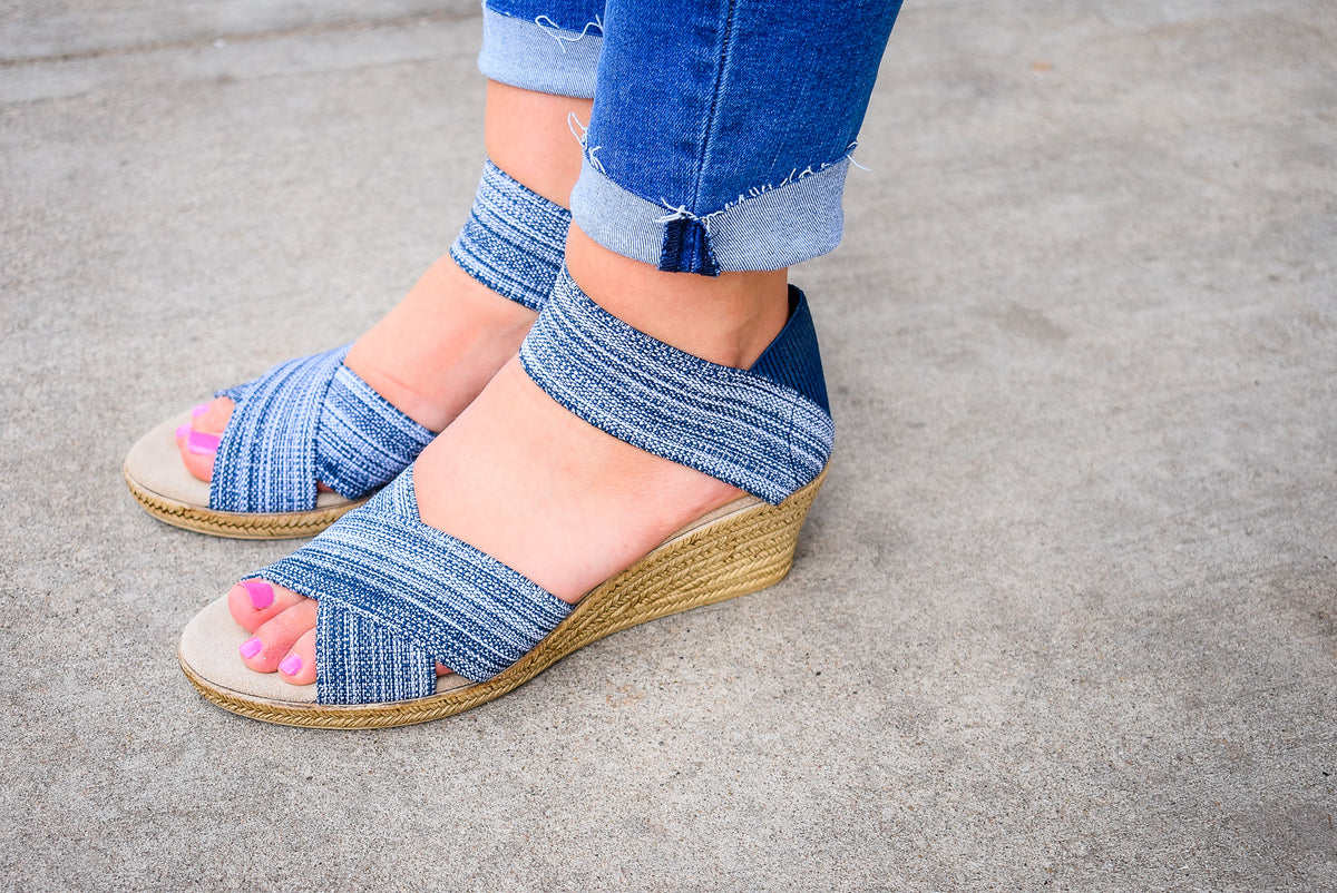 CANNON WEDGE-DENIM