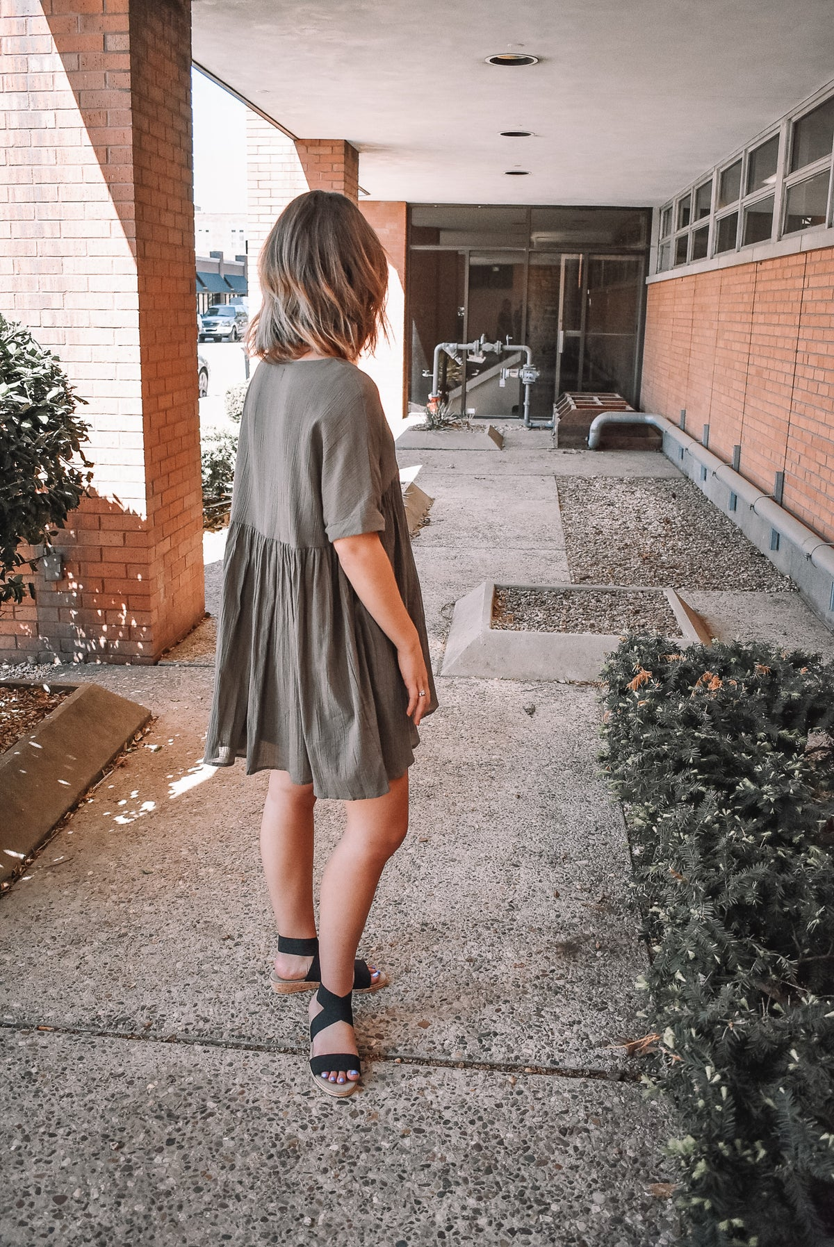 THE BABYDOLL DRESS-OLIVE