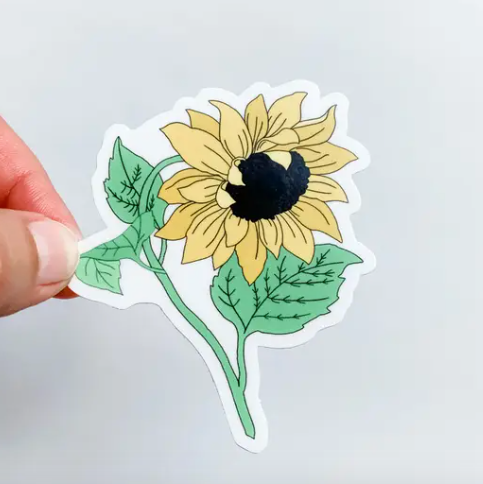LEANING SUNFLOWER STICKER