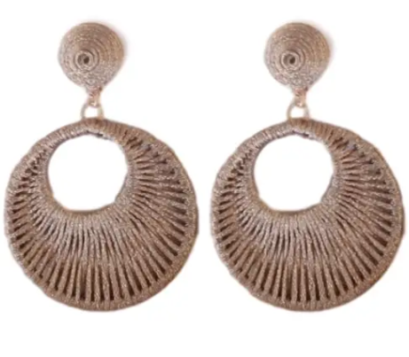 WRAPPED CIRCLE EARRING