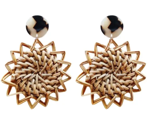 RATTAN SUN EARRINGS