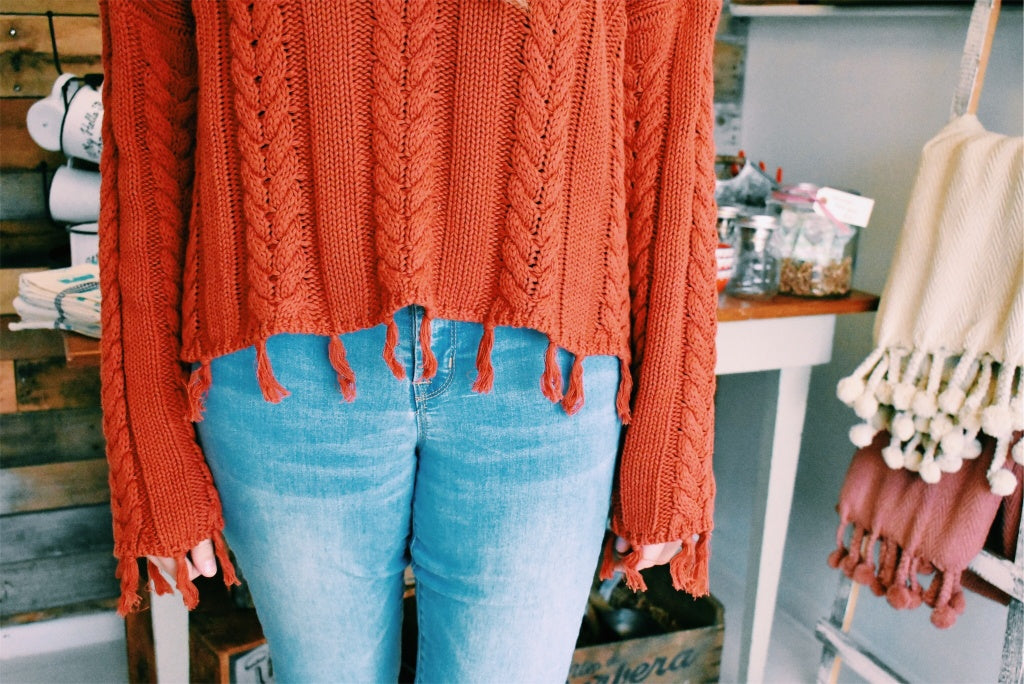TASSEL KNIT SWEATER *FINAL SALE