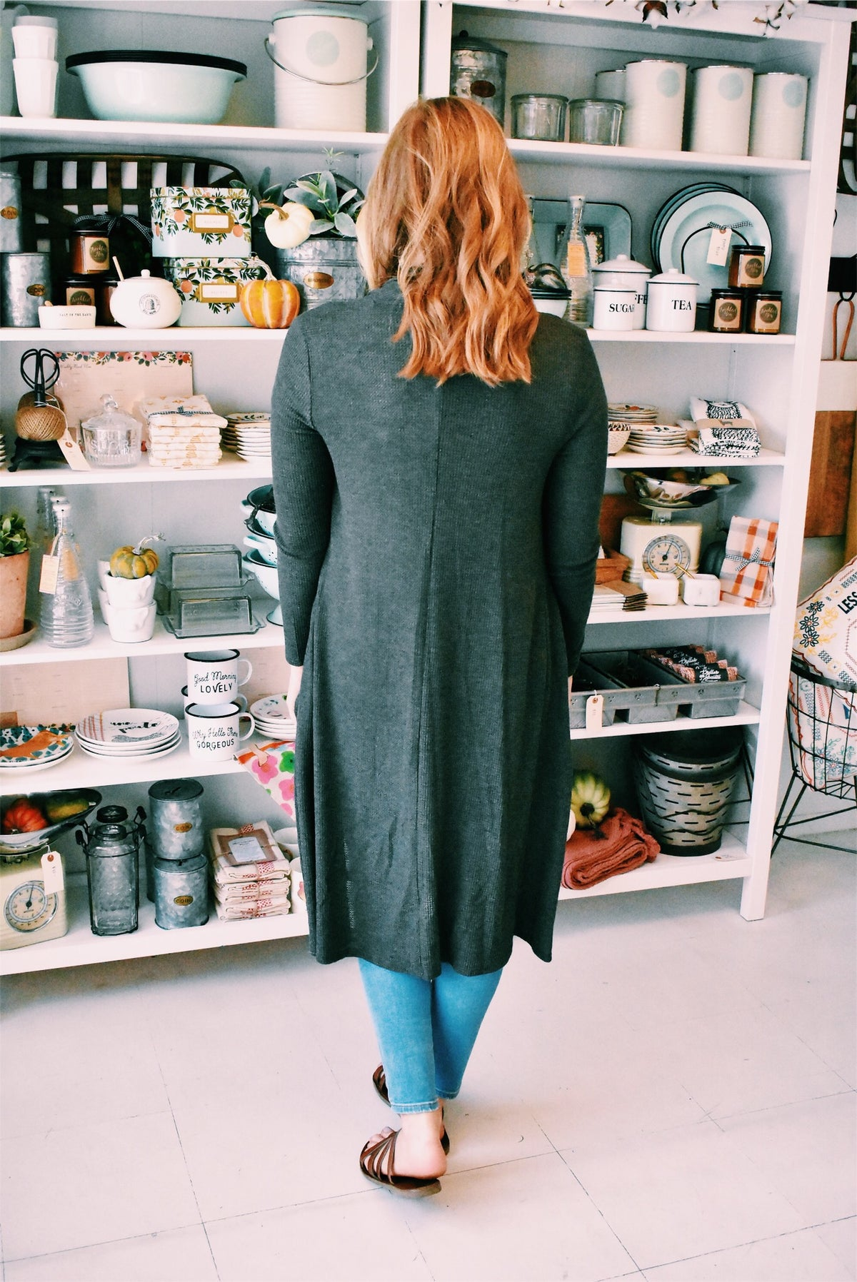 DUSTER SWEATER - DARK OLIVE
