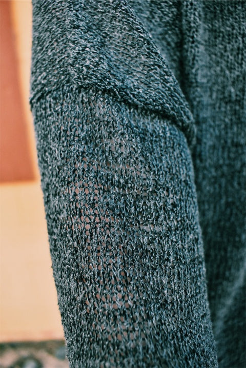 TIE FRONT SWEATER - GREY *FINAL SALE