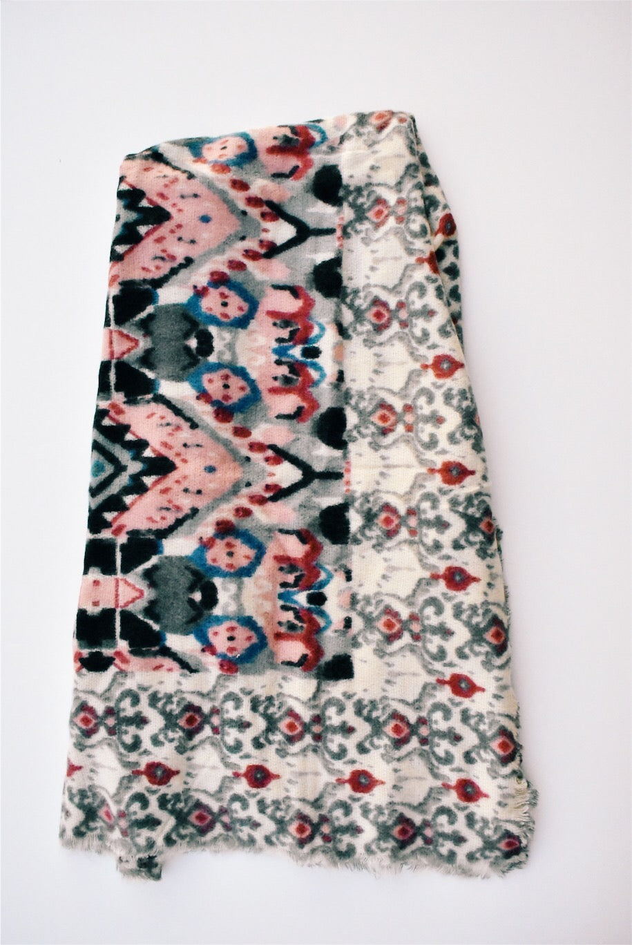 BAROQUE SQUARE SCARF - ROSE *FINAL SALE