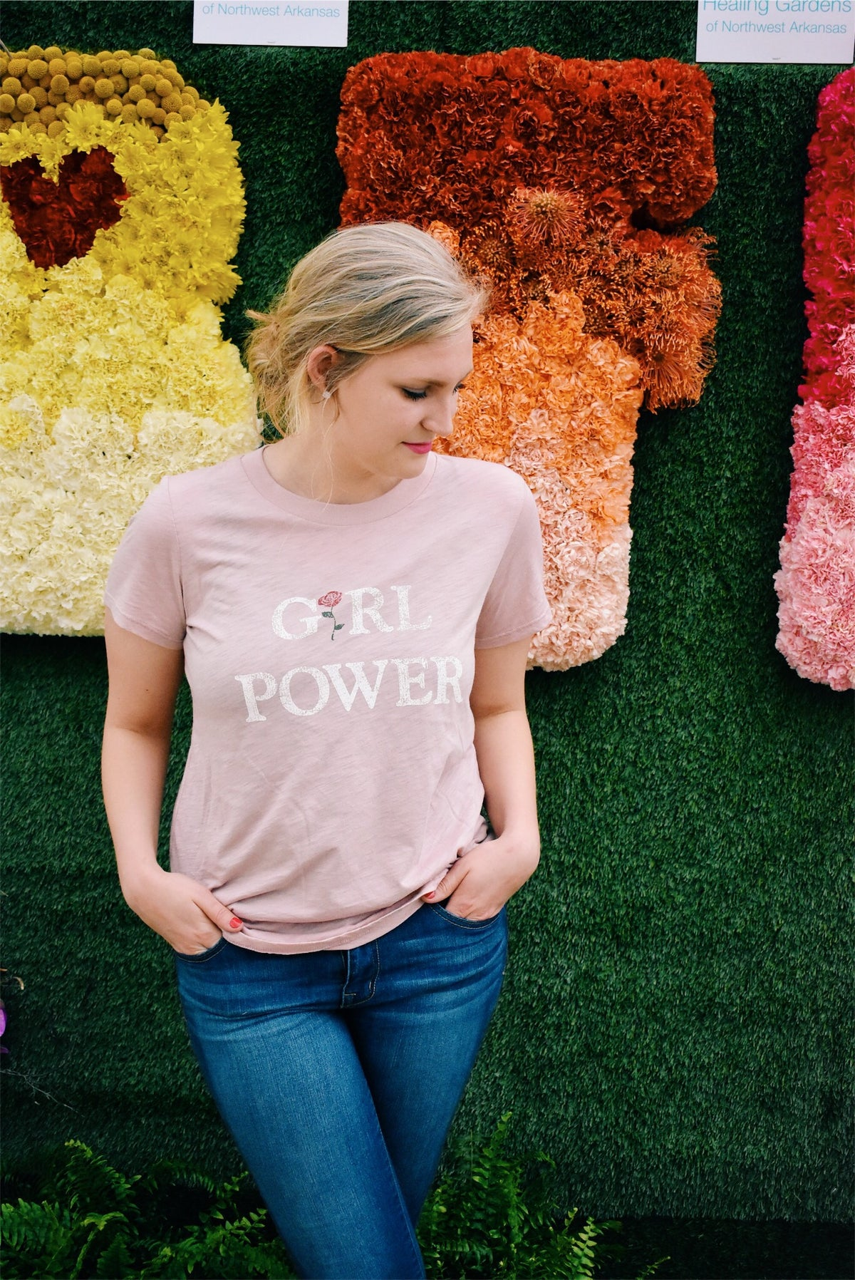 GIRL POWER TEE - ROSE