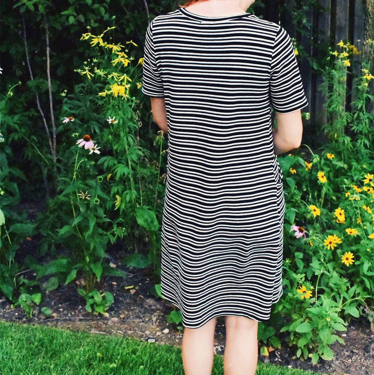 STRIPED POCKET DRESS *FINAL SALE