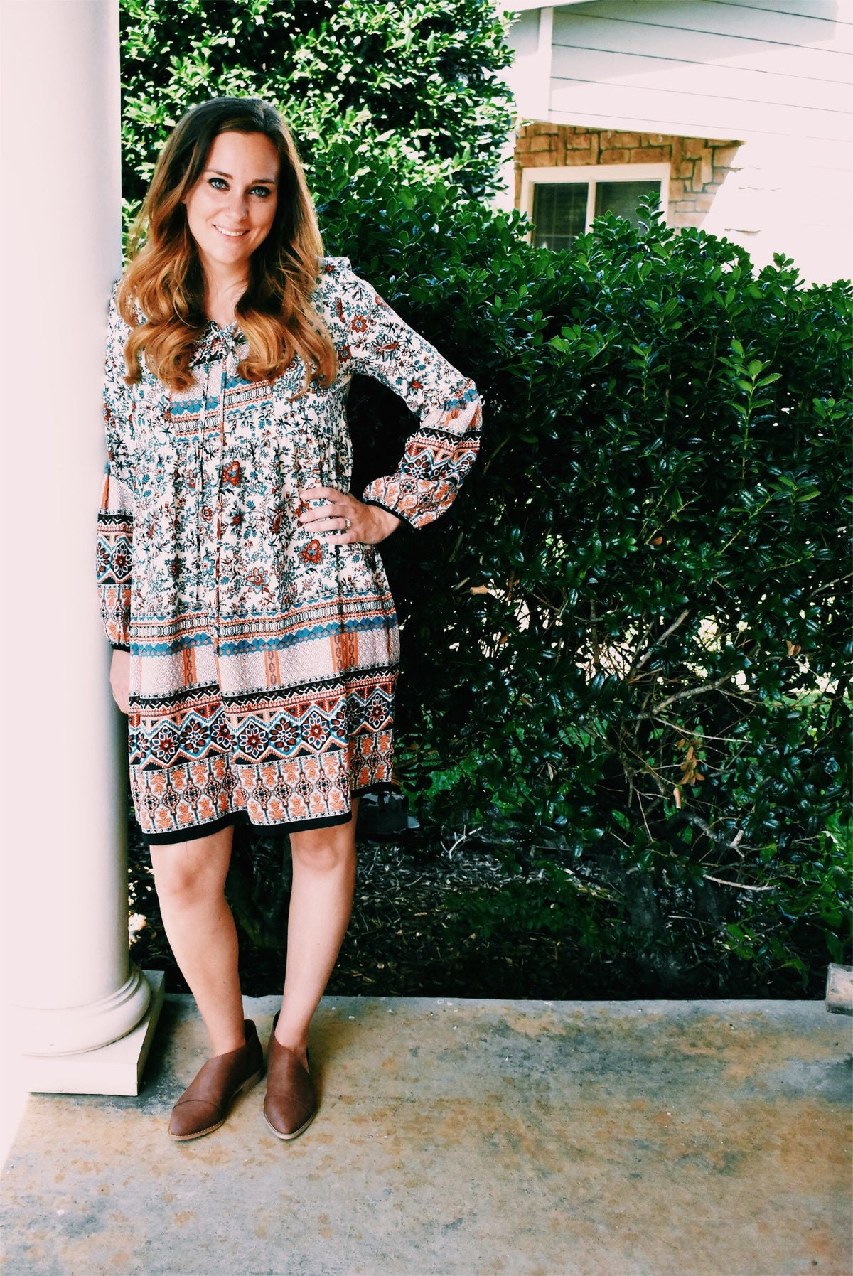 LACE UP BOHO DRESS
