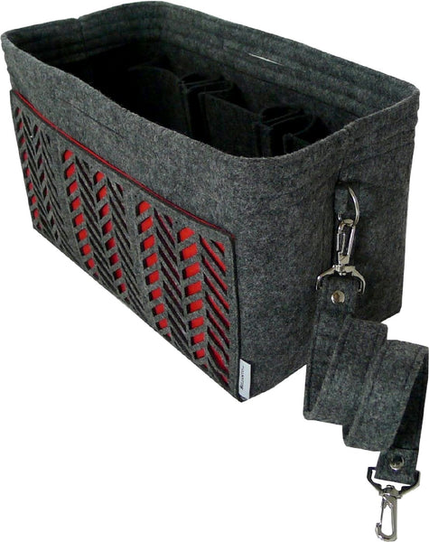 BELIANTO Handbag/Tote Organizer - Classic Herringbone - Dark Grey - Large