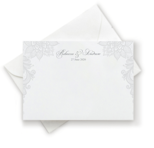 Antique Lace Thank You Note