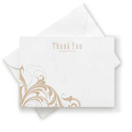 Flourish Thank You Note