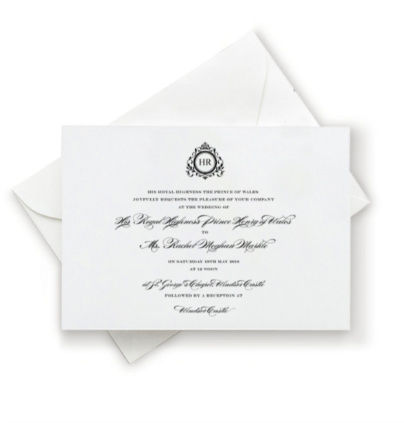 Meghan Wedding Invitation