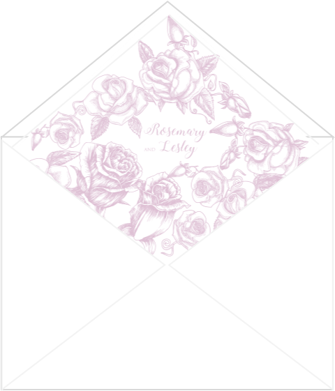 Rose Envelope Liner