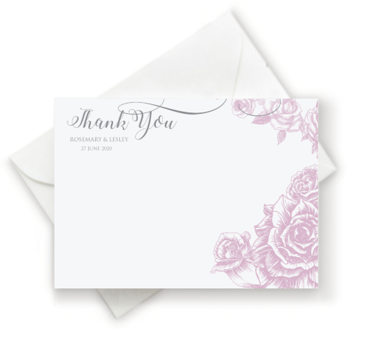 Rose Thank You Note