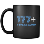 777 is a Magic Number Mug - Black
