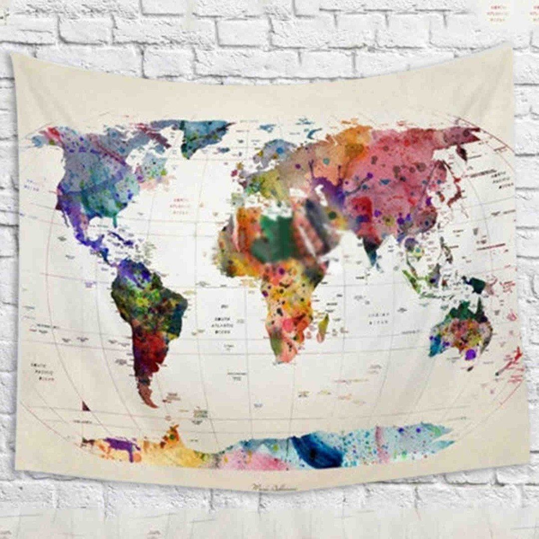 Vintage World Map Tapestry