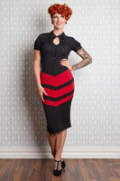 Doraine-Lou Chevron Wiggle Skirt