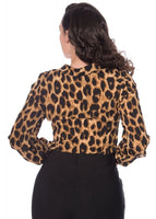 Banned- Leopard Lady Blouse