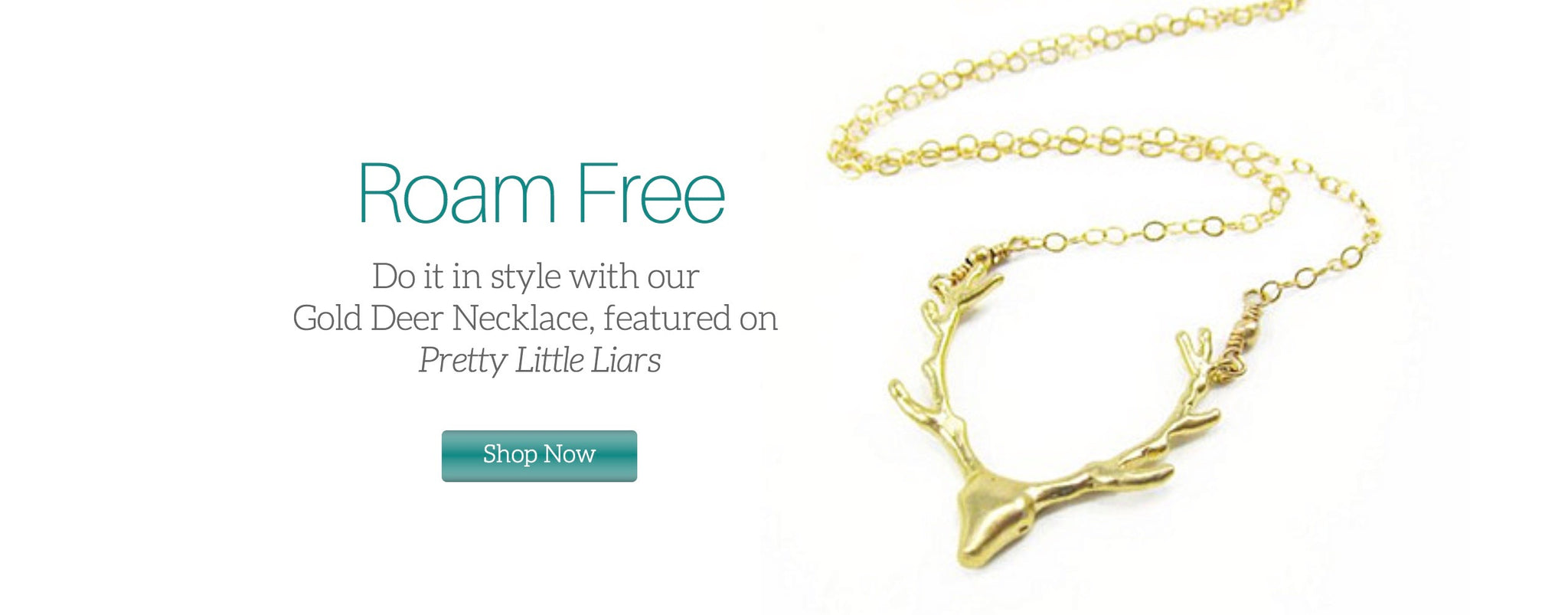 Deer Necklace Featured on Pretty Little Liars Image