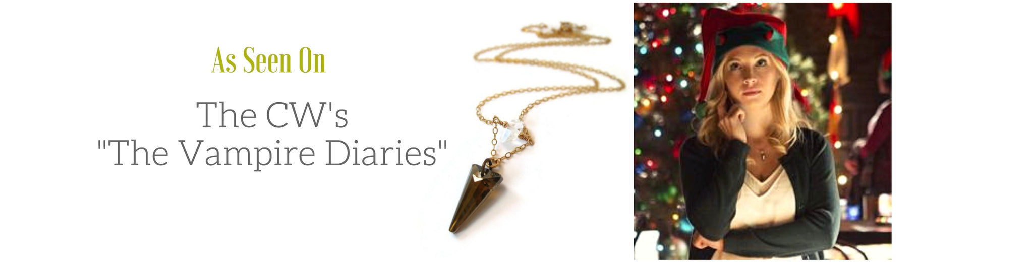 Caroline's Spike Necklace featured on The Vampire Diaries Television Show
