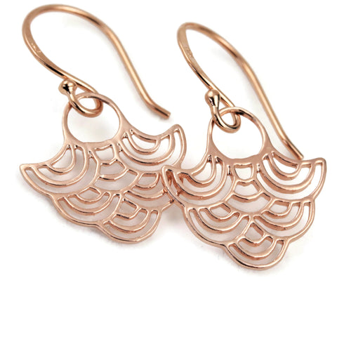 Rose Gold Cloud Dangle Earrings Billow - Sienna Grace Jewelry