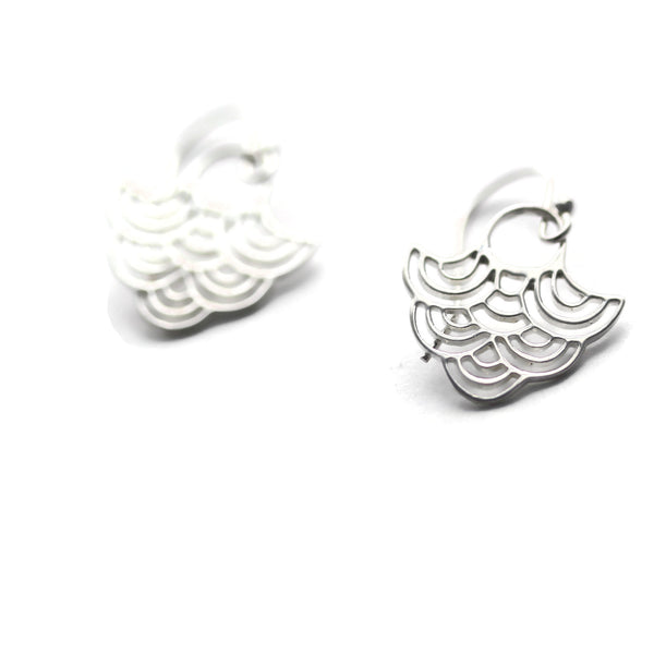 Sterling Silver Cloud Dangle Earrings Billow-Sienna Grace Jewelry | Pretty Little Handcrafted Sparkles